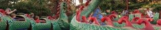 Cobra Imperial: Una gran serpiente que se mueve en círculos que divierte a los más pequeños en la área de China de PortAventura Park