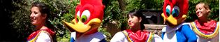 Animación de Calle de México: Disfruta con los bailes de México y sus rituales mayas, además de las mascotas de PortAventura: Woody, Triki, Zoe, Elmo, Betty Boop...