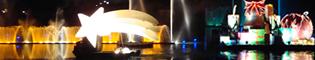 La Llegada de los Emisarios Reales: Recibe a los emisarios reales con todos los honores con este gran piromusical en el Lago de la Mediterrània de PortAventura. Los mejores fuegos artificiales para terminar el día en la Navidad de PortAventura.