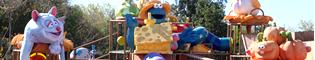 El Huerto Encantado: Una zona de juegos infantiles llena de túneles, zonas para trepar y toboganes por los que bajar protagonizada por Triki, el monstruo de las galletas; en SésamoAventura de PortAventura.
