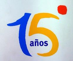 El logotipo de los 15 años