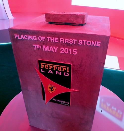 La primera piedra de Ferrari Land en PortAventura