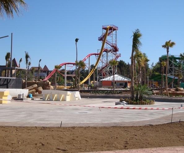 La construcción de la nueva área 2013 de Costa Caribe