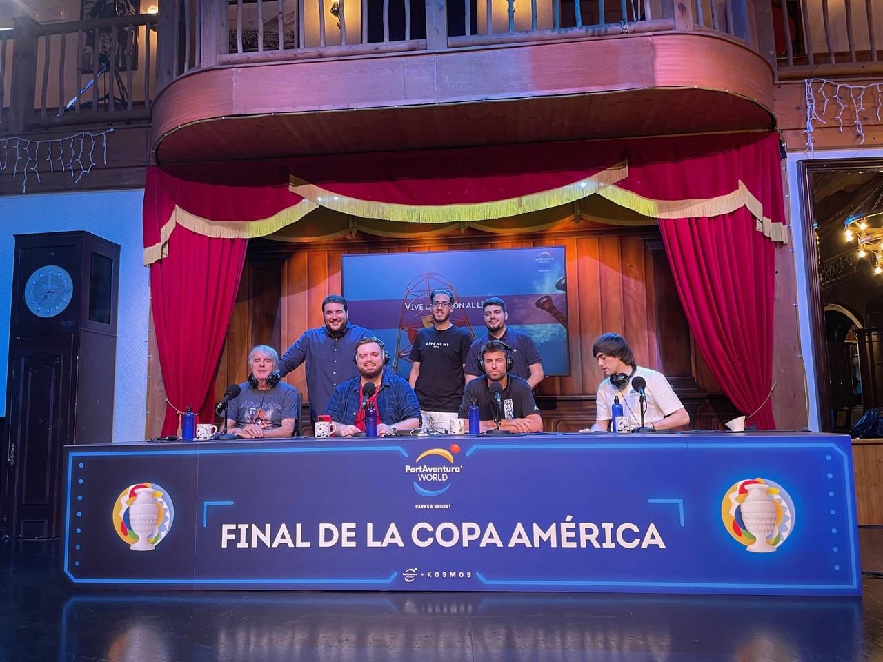 Ibai Llanos retransmite la final de la Copa América desde PortAventura