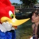 Beatriz Rico visita PortAventura
