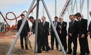 Artur Mas ha colocado la primera piedra de la nueva montaña rusa que PortAventura abrirá en 2012